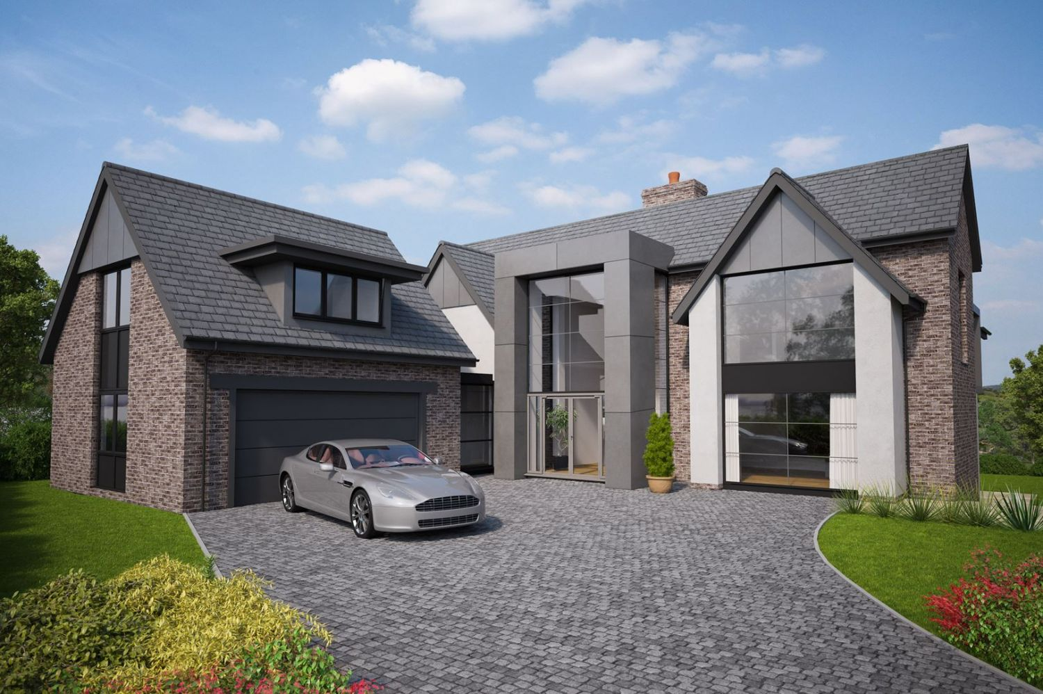 New build houses conwy north wales architectural for Build a modern home for 200k