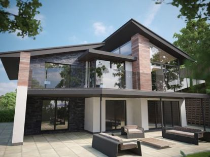 Tree Tops 2   Modern / Contemporary New Build House