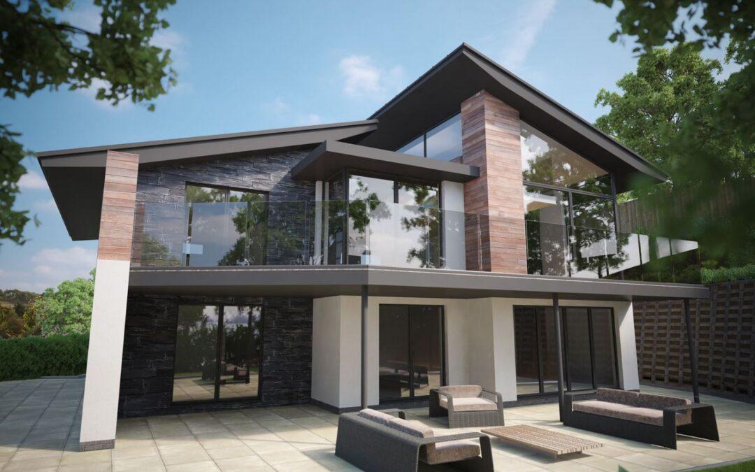 New Build Contemporary House in Llandudno