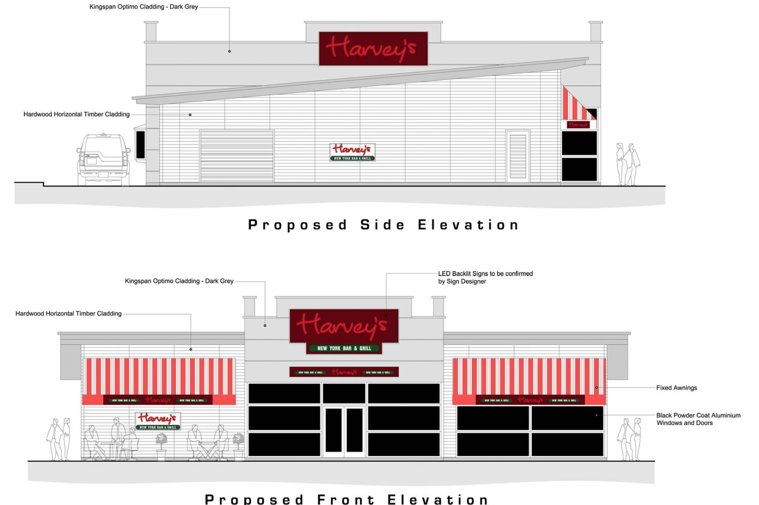 New Build American Style Diner with Drive Thru BR Architecture was chosen by the client to Design a Modern New Build American Style Diner with a Drive Thru Facility. The Development sits on the cusp of the village of Rhuddlan with views over looking the Castle.