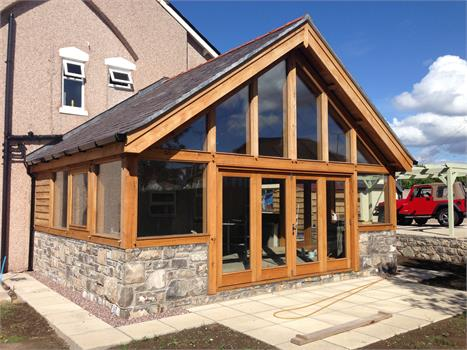 OAK FRAME EXTENSION – RHOS ON SEA, NORTH WALES