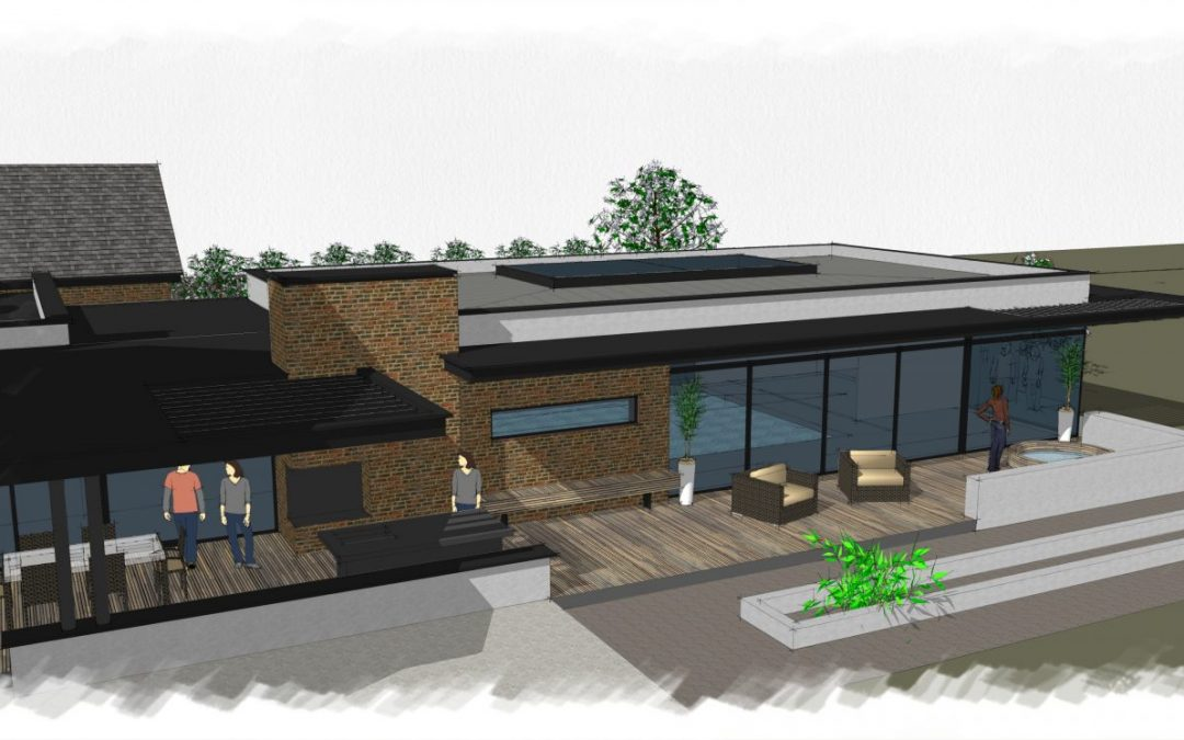 Planning Approval for Luxury Swimming Pool and Garage Extension in Cheshire
