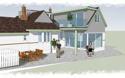 BR Architecture Secures Planning Approval for Contemporary Extension Design to Bungalow – Llandudno, North Wales